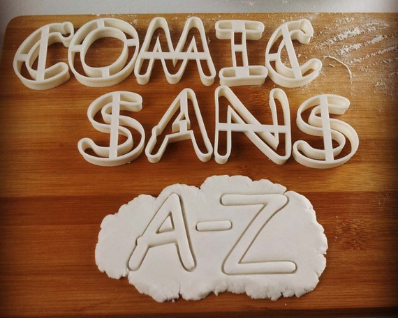 comics sans a z letters upper case fonts cookie cutters typography letter word words alphabets