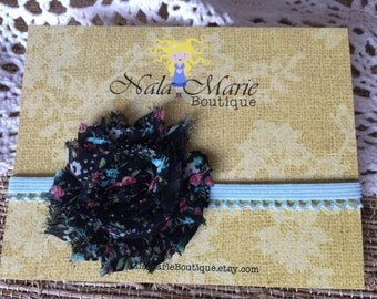 Black Floral Headband