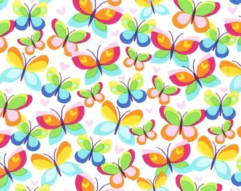 Hearts Aflutter Premium Cotton Fabric by Michael Miller Fabrics