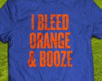 Florida Gators - I Bleed Orange and Booze T-shirt