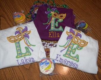 Personalized Mardi Gras shirt