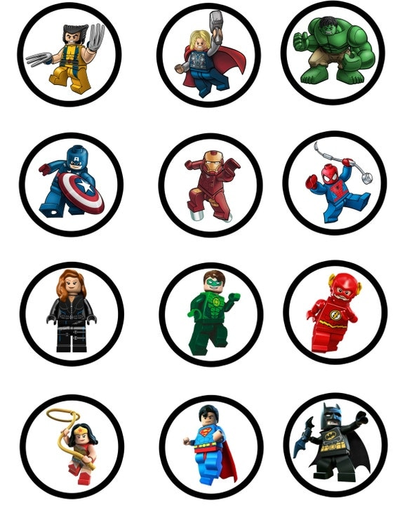 Superheroes Avengers & DC Comics Cupcake by LCMomCreations