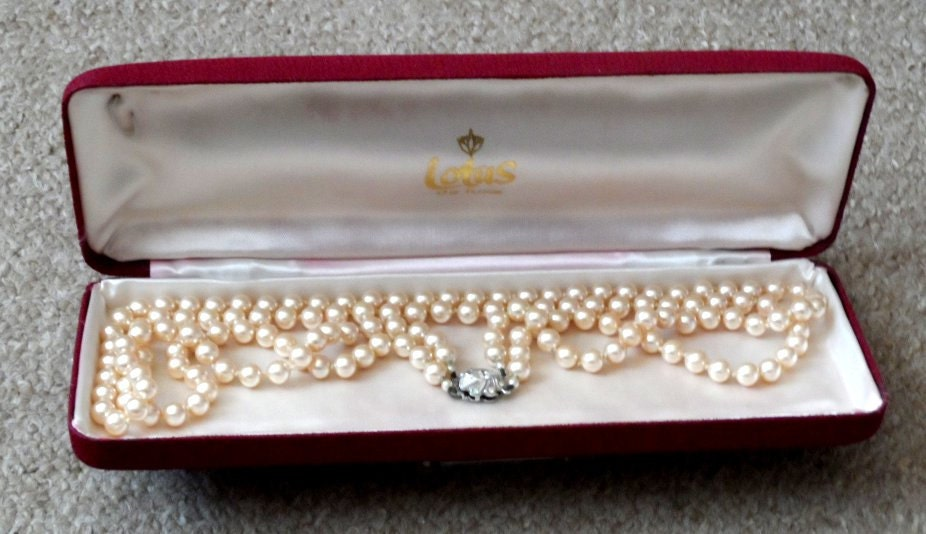 A Lotus Deluxe Double Row Pearl Necklace Original