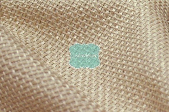 Fabric by the Yard Jute Linen Faux Natural Burlap Wheat