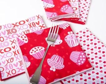 Valentine's Day cloth napkins