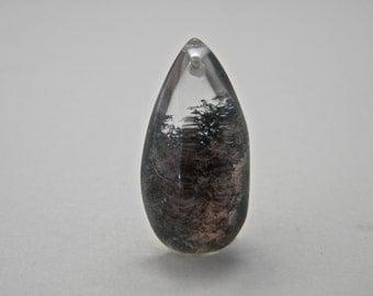 Lodolite Garden Quartz Drilled Focal Bead