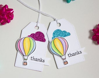 Air ballon thank you gift tags, Party favor tags, Unique baby shower tags, Birthday party favor tags, Hang tags, fun gift tags