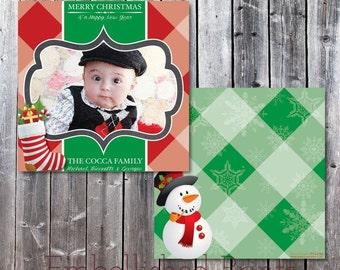 Plaid Christmas Card