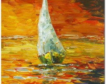 Boats Sailing -  Oil Painting- several paintings