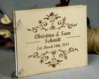 Personilized Bridal Shower-Wedding-Anniversary-Birthday-Retirement Guest Book / Gift, Wedding Keepsake, Custom Gift for Couple, Memory Album