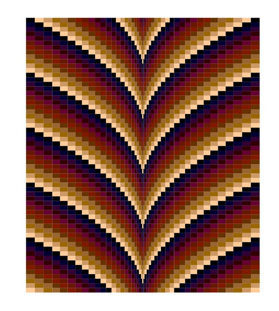 Autumn Points Bargello Quilt Pattern Amp Tutorial Lap Size And