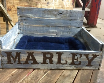 Personalized Pallet Dog Bed