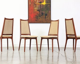 Glenn of California Walnut Dining Chairs by John Kapel