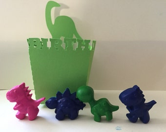 Dinosaur Crayons Recycled Crayons Party Favors Dinos Gifts Set of 10 Something Jurassic