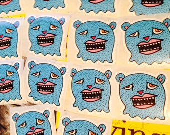 BEAR HEAD STICKER!
