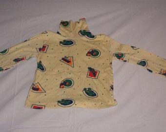 Vintage 1980's - Kidding Around Baby Turtle Neck Shirt with Transportation