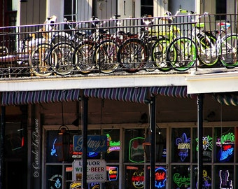 BIKE RACK BALCONY  Photograph ~ New Orleans, Louisiana