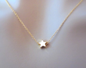 Dainty, Star, Wish, Gold, Necklace, Cute, Mini, Star, Necklace, Birthday, Best friends, Sister, Gift, Jewelry