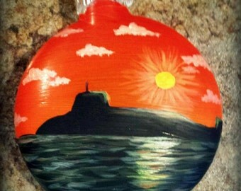 Custom Submarine hand painted Christmas Ornament (any sub you want!)