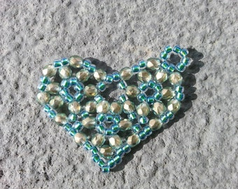 Sparkly Heart Pendant or Charm