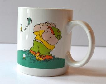 Ziggy Mug Golfer Duffer Vintage Cartoons Collectable Mug Tom Wilson