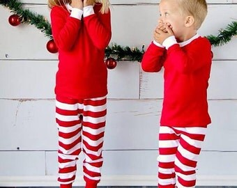 Red & White Holiday PJ's
