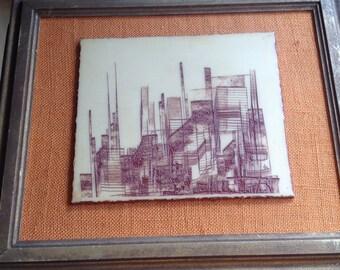 Artini Masterpiece by Blanche Duberstein titled Skyline Splinters.