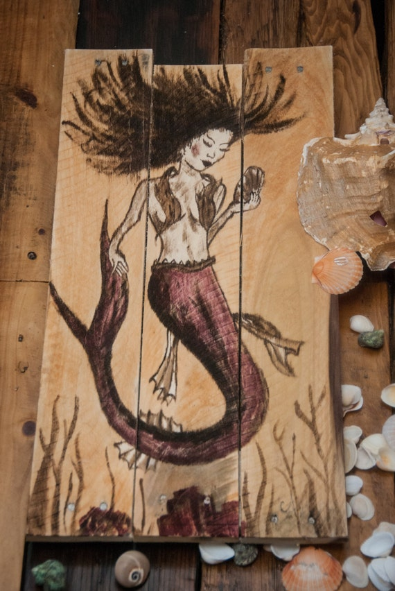 Mermaid Art Painting Nautical Decor By SimplyPallets
