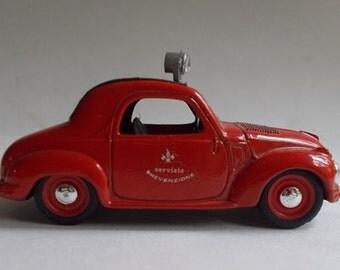 """BRUMM Red and Black Fiat 1100 508C 1937 Vigili Fuoco """"Servizio Prevenzione"""" Fire Department 1/43 Scale Diecast Car"""