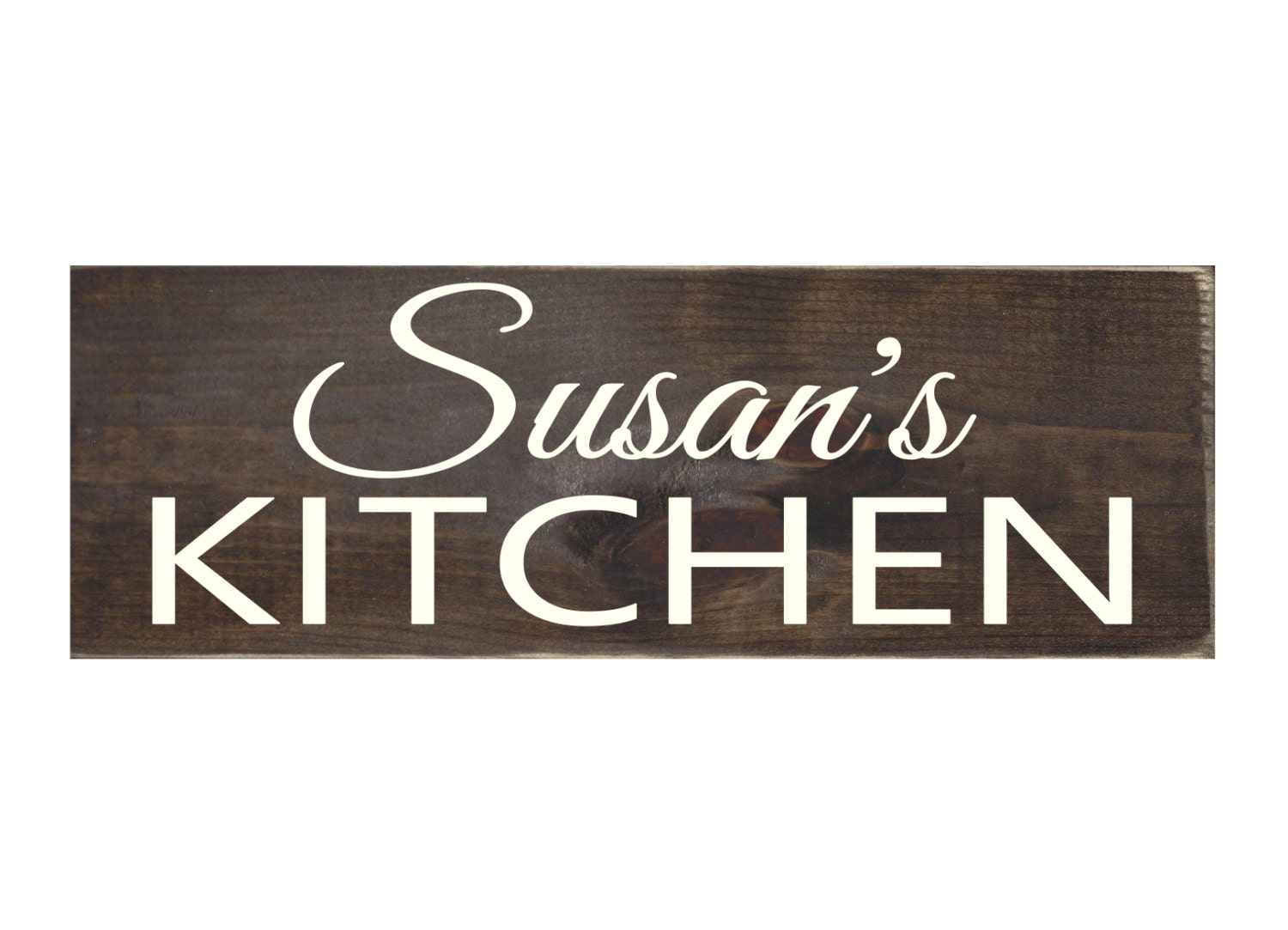 Personalized Rustic Wood Sign Kitchen Wall Art Home Decor