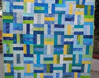 Blue and Yellow Comfy Quilt