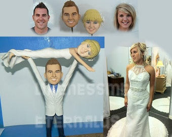 custom wedding cake topper *  Wedding and All Occasions Cake Topper * Created from your Ideas and Photos