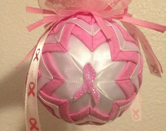 Breast Cancer christmas ornament