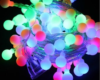 weddiParty 5M 50 Balls LED string lights outdoor multicolor LED stringlights christmas for decoration EU 220V