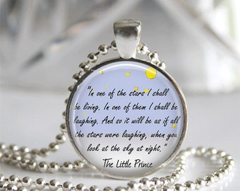 The Little Prince Quote Pendant Necklace or Keychain