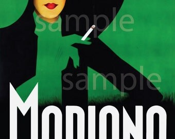 Modiano Vintage Poster by Franz Lenhart 1935 Green Print Poster Canvas Art