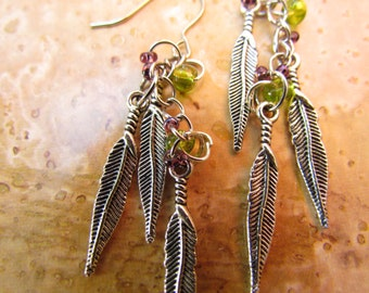 Metal Feather Earring
