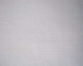 Wide 100% Pure Linen Flax Fabric White Cloth Width 87 Inch Medium Weight ECO-friendly by the yard