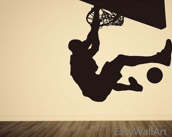Playing Basketball Wall Decal, Michael Jordan Vinyl Wall Art U0026 Sports Man  Wall Stickers# Part 75