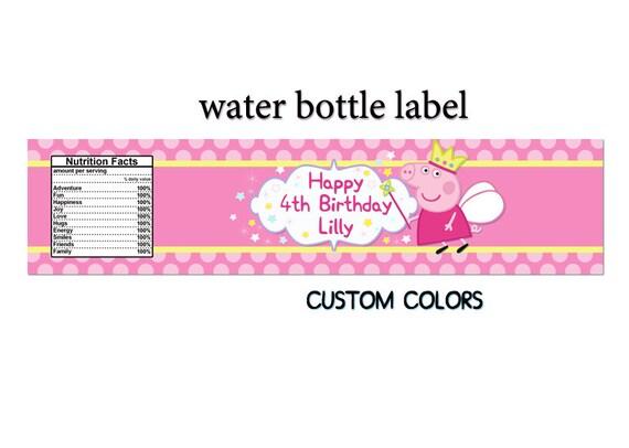 Peppa Pig water bottle label, Peppa Pig Birthday Party, Peppa Pig ...