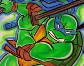Personalized Custom Airbrushed Ninja Turtle Inspired T-Shirt, Airbrushed TMNT Hoodie, The Perfect Shirt for You or Your Child