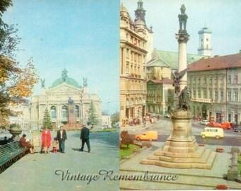 Lviv Ukraine Vintage Soviet Postcards City Monuments Architectural Ensembles Cityphotography Set of 11  USSR 1980s