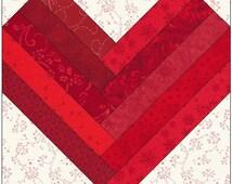 Braided Heart Quilt Block Pattern Digital Download