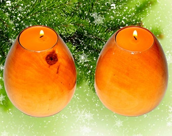 Candlestick Candle Holder (two) with a candles support under candles a decor element the Christmas New year souvenir #P8