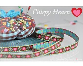 Farbenmix Ribbon *Chirpy Hearts * 1metre