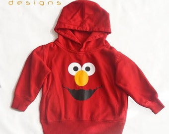 Elmo Sweatshirt Toddler - Toddler Sweatshirt Sesame Street Elmo - Girl Boy Elmo Sweatshirt - Elmo Sweatshirt Kid -