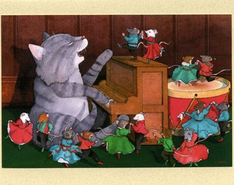 Cat & Mice (A Holiday Dance) Christmas Card