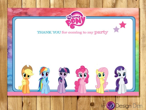 Revered image intended for my little pony printable birthday cards