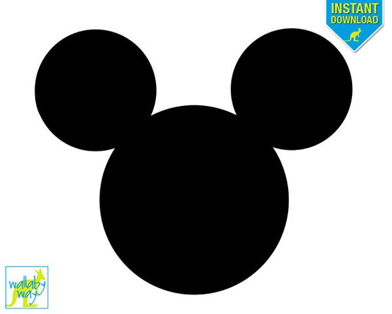 Mickey Mouse Head Printable Iron On Transfer or Use as Clip Art - DIY ...