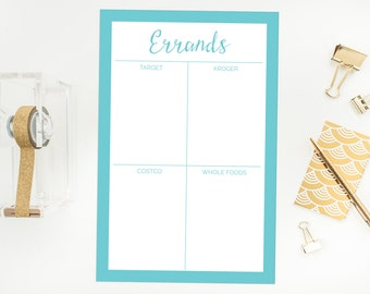 Personalized Errand Notepad